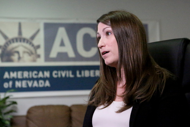 Michael Quine/Las Vegas Review-Journal Amy Rose, legal director of the ACLU of Nevada