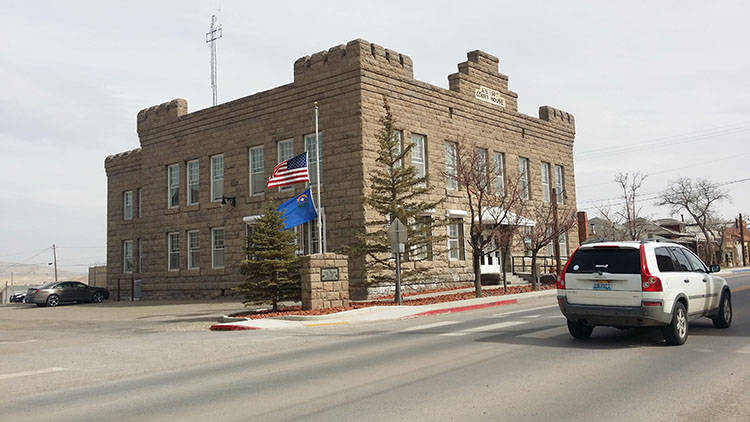 David Jacobs/Pahrump Valley Times The Esmerala County courthouse in Goldfield as seen in a 2016 photo. The rural counties cited in the complaint are Nye, Esmeralda, White Pine, Douglas, Mineral, C ...