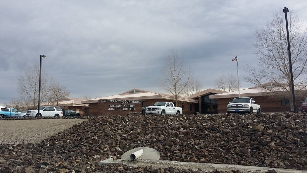 David Jacobs/Pahrump Valley Times The Nye County Justice Center in Tonopah as seen in a 2016 photo. The rural counties cited in the complaint are Nye, Esmeralda, White Pine, Douglas, Mineral, Chur ...