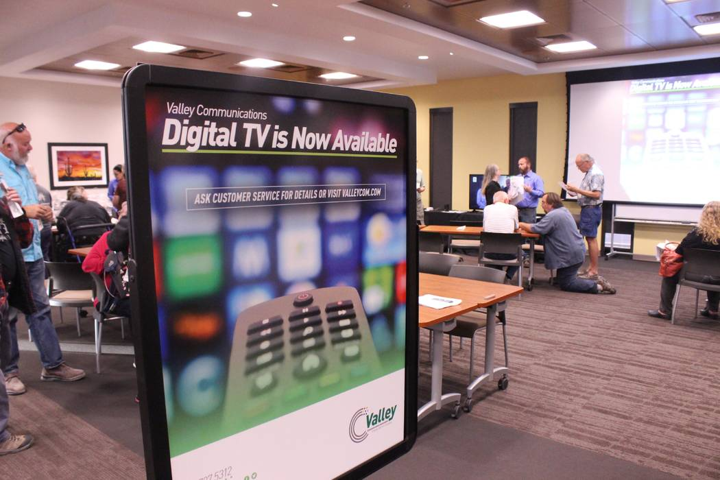Jeffrey Meehan/Pahrump Valley Times  Valley Communications held a tech expo on Nov. 16 to introduce those interested in new digital TV and phone services to its new product lineup. More than 100 p ...