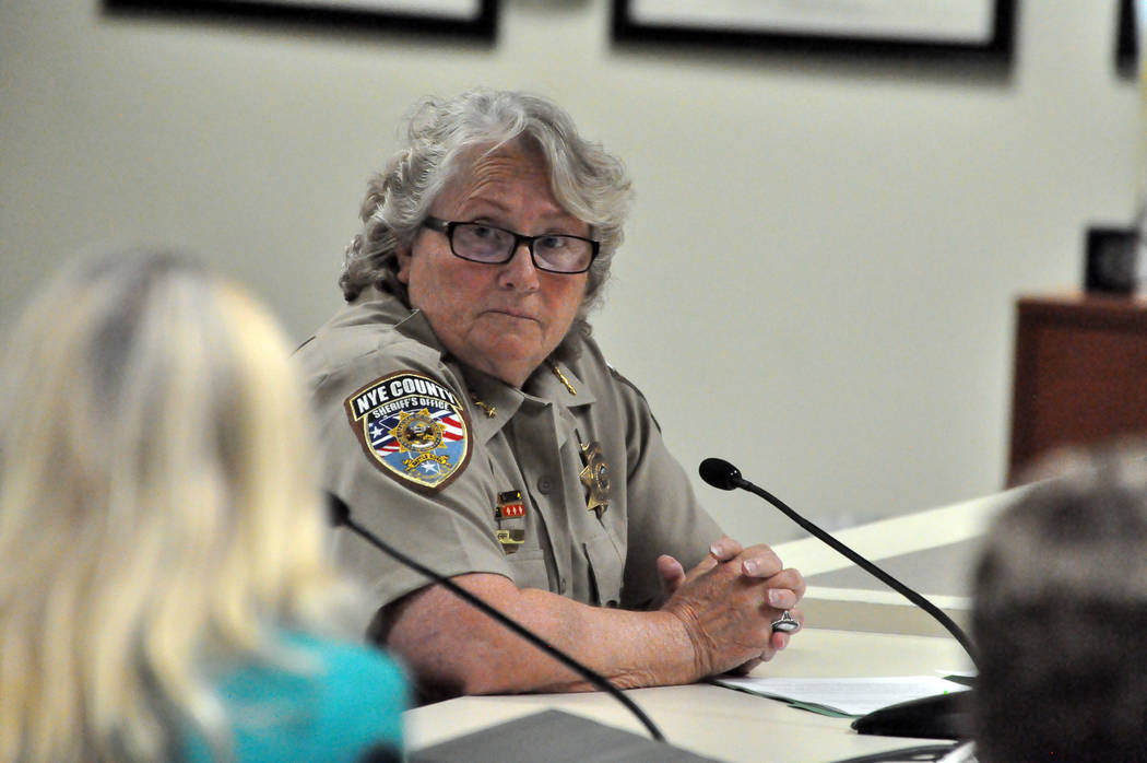 Nye County Sheriff Sharon Wehrly and several other county officials on Tuesday discussed a reinstatement of a special condition animals permit for a Pahrump animal owner. Nye County commissioners  ...