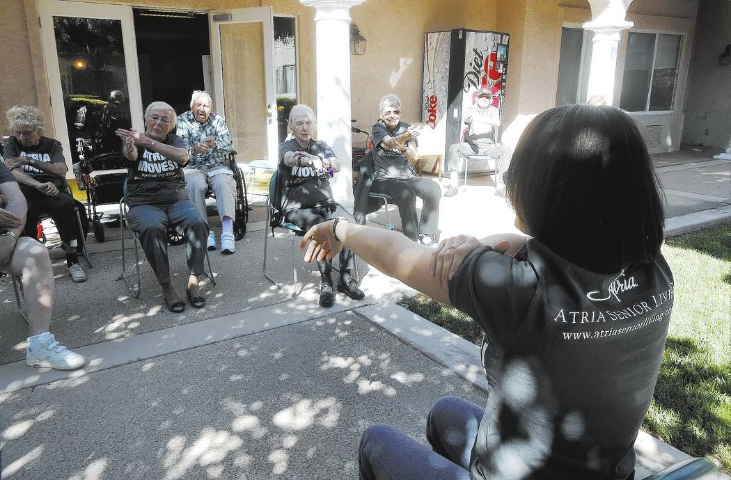 Active seniors staying healthy through exercise. Special to the Pahrump Valley Times