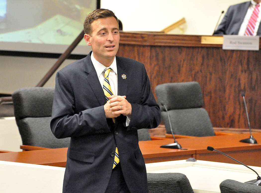 Nevada Attorney General Adam Laxalt on Friday held a Wills and Powers of Attorney Workshop at the Veterans Service Office in Pahrump on Friday. Laxalt launched a program providing free legal aid t ...