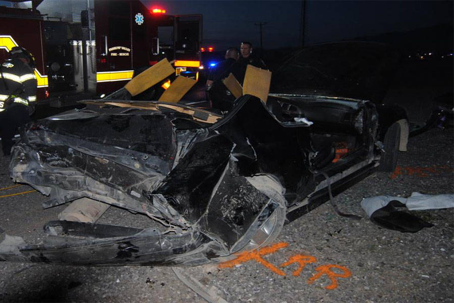 At least three people were transported to Desert View Hospital while one was flown to UMC Trauma following a two-vehicle collision on Highway 160, just south of Bell Vista Avenue on Thursday. Fire ...