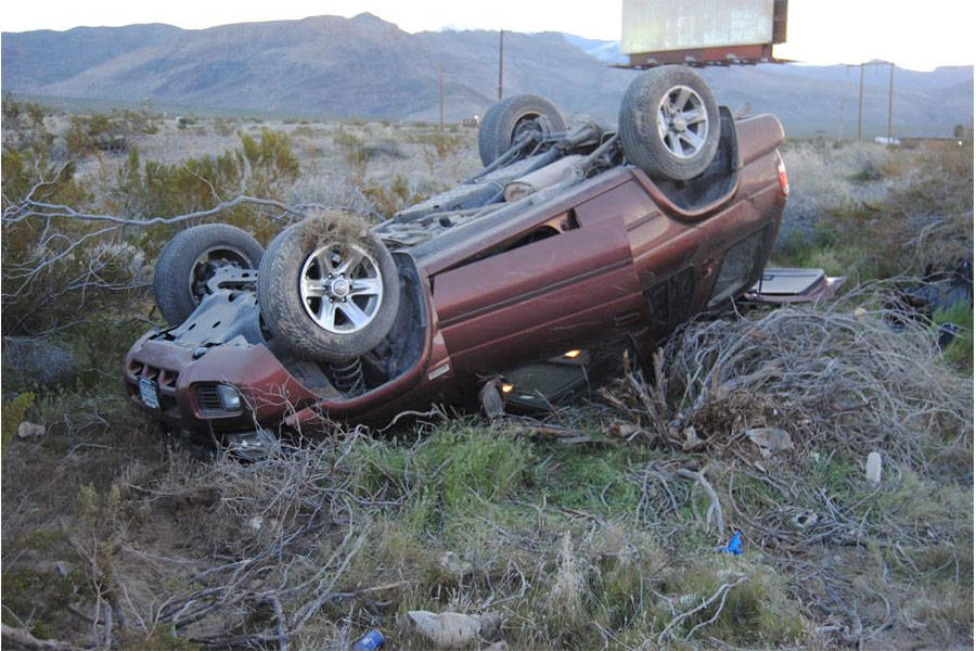 One person was transported to Desert View Hospital following a single-vehicle rollover crash on Highway 160 just before 7 a.m., near the Spring Mountain Motorsports Ranch on Sunday. Fire crews wer ...