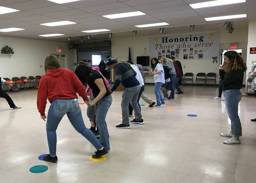 At the career fair, the students participated in a lot of games and exercises that involved team- work and other skills. Special to the Pahrump Valley Times