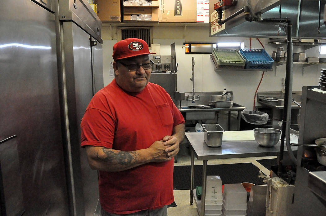 Chef Martin Urias talks about his kitchen and the food at the new restaurant, $5-$10-$15, in back of the Stagestop Casino. Horace Langford Jr. / Pahrump Valley Times