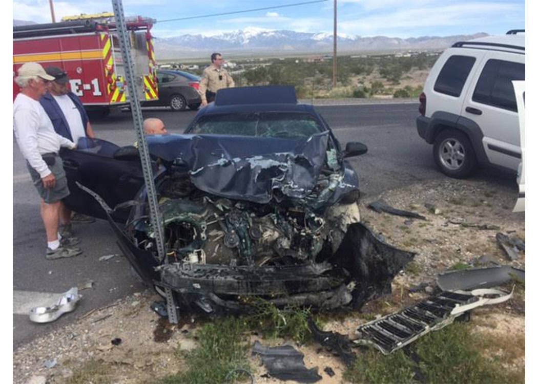 Two people were flown to UMC Trauma following a two-car head-on collision on Highway 160 near Bell Vista Avenue on Sunday. The high-impact crash caused major damage to both vehicles. The highway w ...