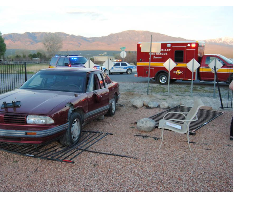 Fire crews were dispatched to the area of Highway 160 and Country Place Road for a property damage crash March 15 after the driver plowed into a wrought-iron security gate. No serious injuries wer ...