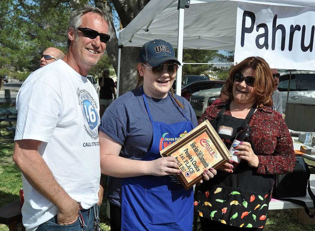 """At the Silver State Chili Cook-Off at Petrack Park on Saturday there were several winners in different categories. Winners of the People's Choice award were Deanna O' Donnell's, """"Our Chili ..."""