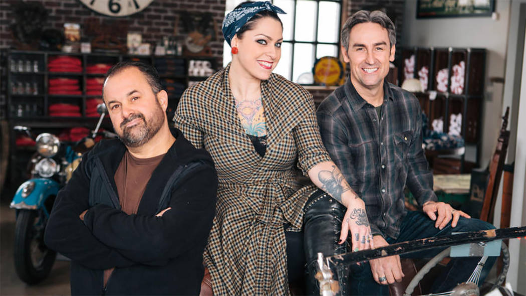 History Channel  Mike Wolfe, Danielle Colby Cushman and Frank Fritz are scouring Pahrump and surrounding communities, seeking out collectibles, antiques and oddities for the American Pickers telev ...