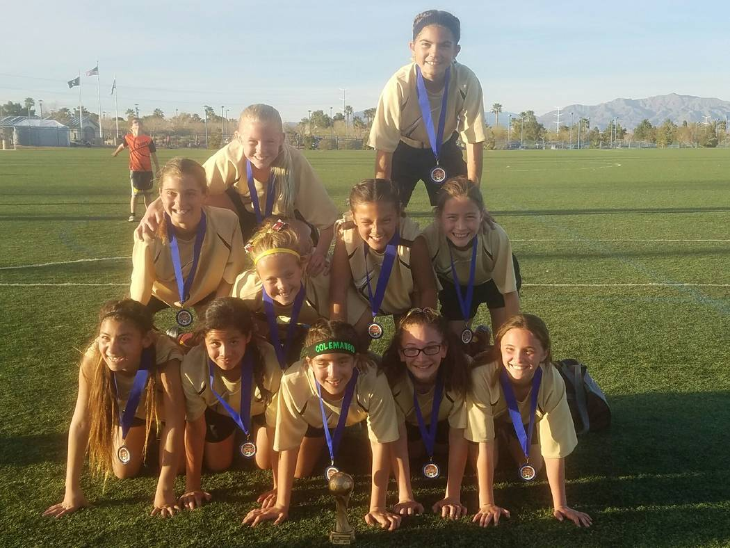 Special to the Pahrump Valley Times Team roster: Avery Moore, Courtney VanHouse, Kailani Martinez, Adryanna Avena, Andrea Sauceda, Paris Coleman, Emily Lewis, Grace Miller, Mia Carlson, Jessica Ga ...