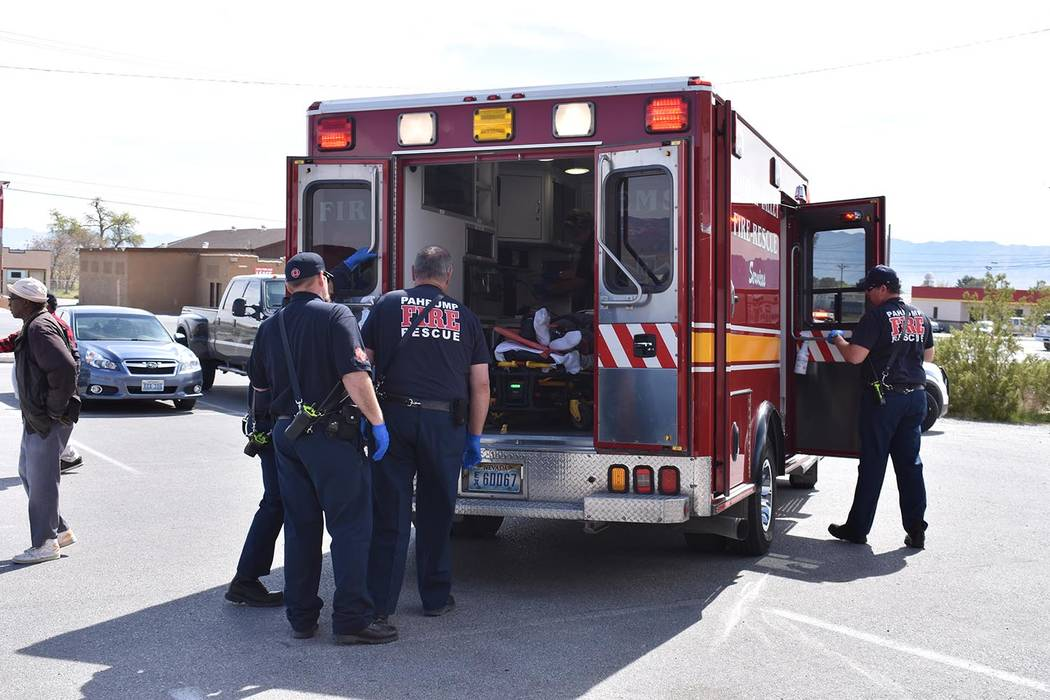 Daria Sokolova / Pahrump Valley Times  A man was killed after his vehicle pushed him to the ground and rolled over him just after 2 p.m. on Wednesday. The intial investigation revealed the man fai ...