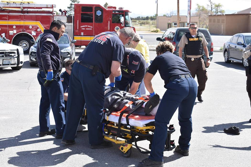 Daria Sokolova/Pahrump Valley Times A man was killed after his vehicle pushed him to the ground and rolled over him just after 2 p.m. on Wednesday. The initial investigation revealed the man faile ...