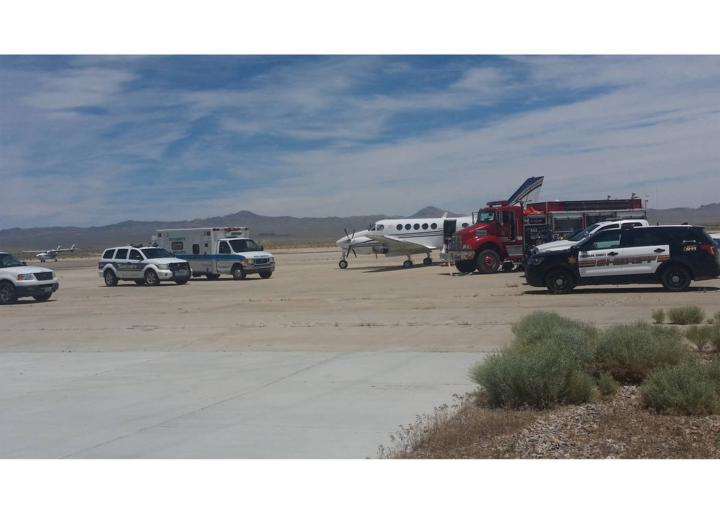 David Jacobs/Pahrump Valley Times  A medical airplane from Life Guard International/Flying ICU is shown in a 2016 photo at Local Public Safety Day at the Tonopah Airport. The event included repres ...