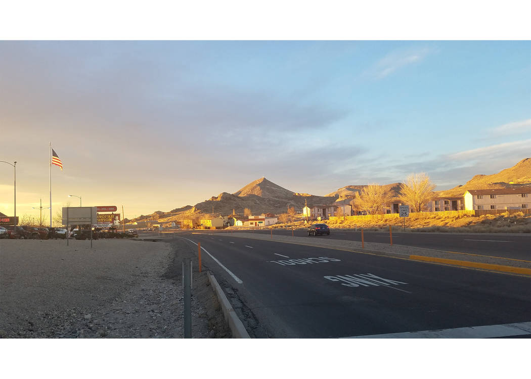 A look at Tonopah as sunset approached on March 15. That week included temperatures that broke or tied record highs for the time of year. This comes after a cold winter in the town.  Photo by Davi ...