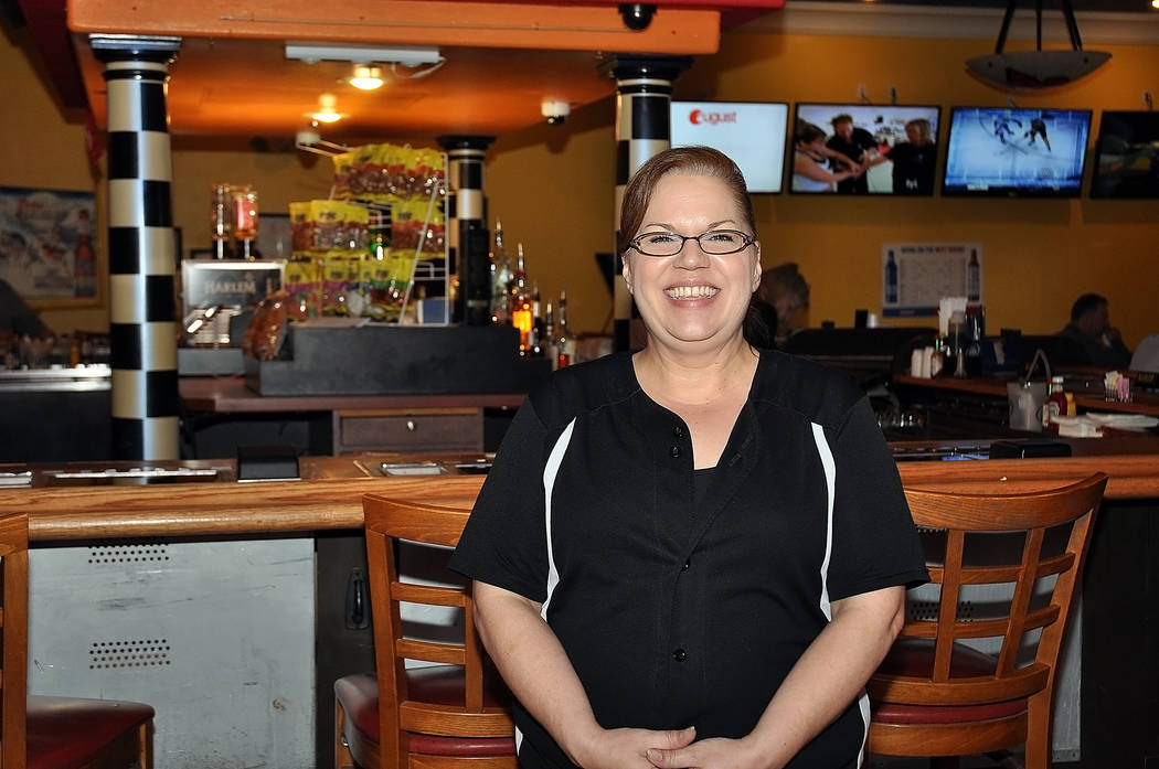 Horace Langford Jr. / Pahrump Valley Times  Draft Picks Manager Pam Tobias is excited the team is coming to Las Vegas, but wasn't too sure that business will increase at the bar because of it.