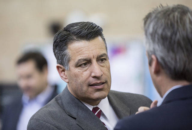 File photo/Special to the Pahrump Valley Times Gov. Brian Sandoval's announcement on Wednesday came after U.S. Secretary of Energy Rick Perry made a surprise visit to Yucca Mountain on Monday. T ...