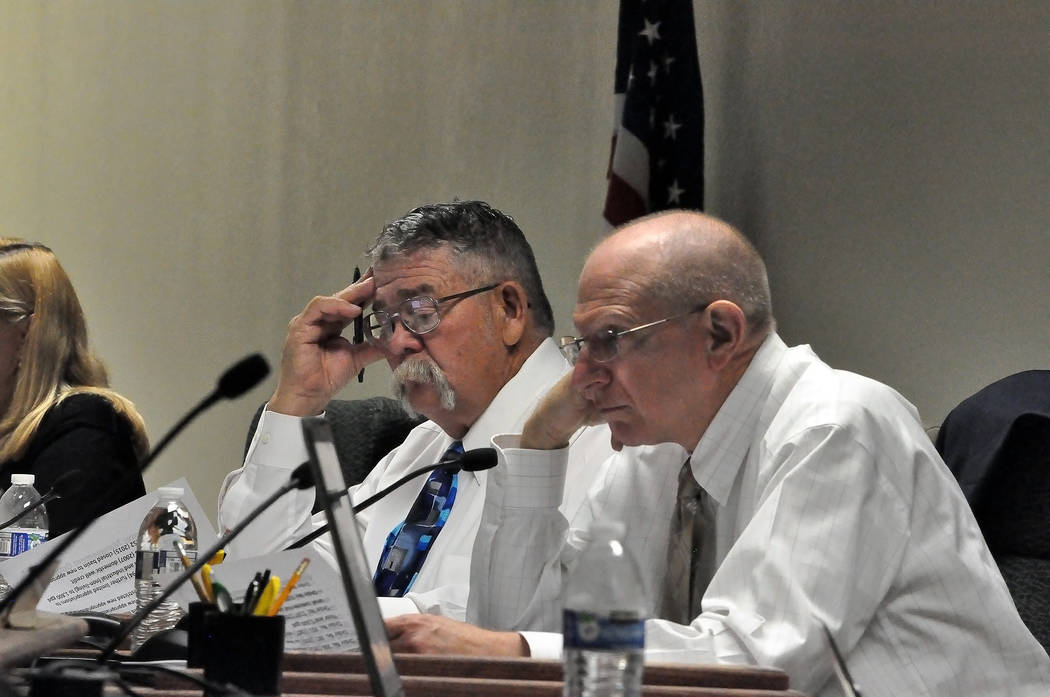 Horace Langford Jr./ Pahrump Valley Times Senate Bill 21 that seeks to repeal the Nye County Water District cleared the Nevada Senate Government Affairs Committee on March 22, days after several N ...