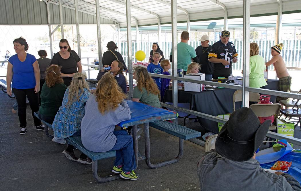Richard Stephens/Special to the Pahrump Valley Times A look at the Helping Hands greeting event in Beatty where participants enjoyed the gathering.