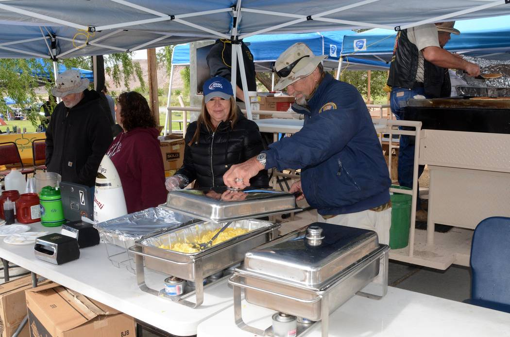 Richard Stephens/Pahrump Valley Times  Beatty VFW and Auxiliary serving breakfast at last year's taco festival.