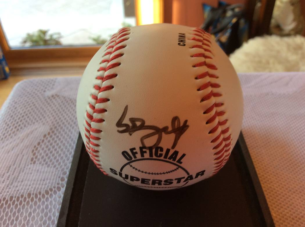 Special to the Pahrump Valley Times Andres Torres was obtained in 2009 at Dodger Stadium. Torres was a member of the Giants and was visiting Dodger Stadium.  He was kind enough to sign the ball.   ...