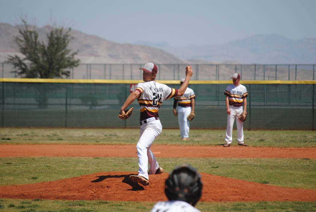 Charlotte Uyeno / Pahrump Valley Times  Willie Lucas pitches his first no-hitter in the championship game of the Cowboy Classic in Las Vegas on Wednesday.