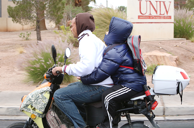 Bizuayehu Tesfaye/Las Vegas Review-Journal  A bill passed Tuesday by the Nevada Senate would require helmets for moped riders.