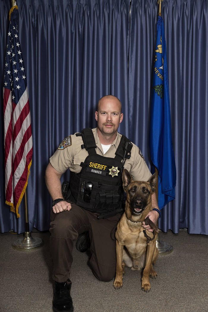 Photo provided by Nye County K-9 Kane retired from the Nye County Sheriff's Office after more than 6 years of service. Nye County commissioners voted to retire K-9 Kane at the last meeting at the  ...