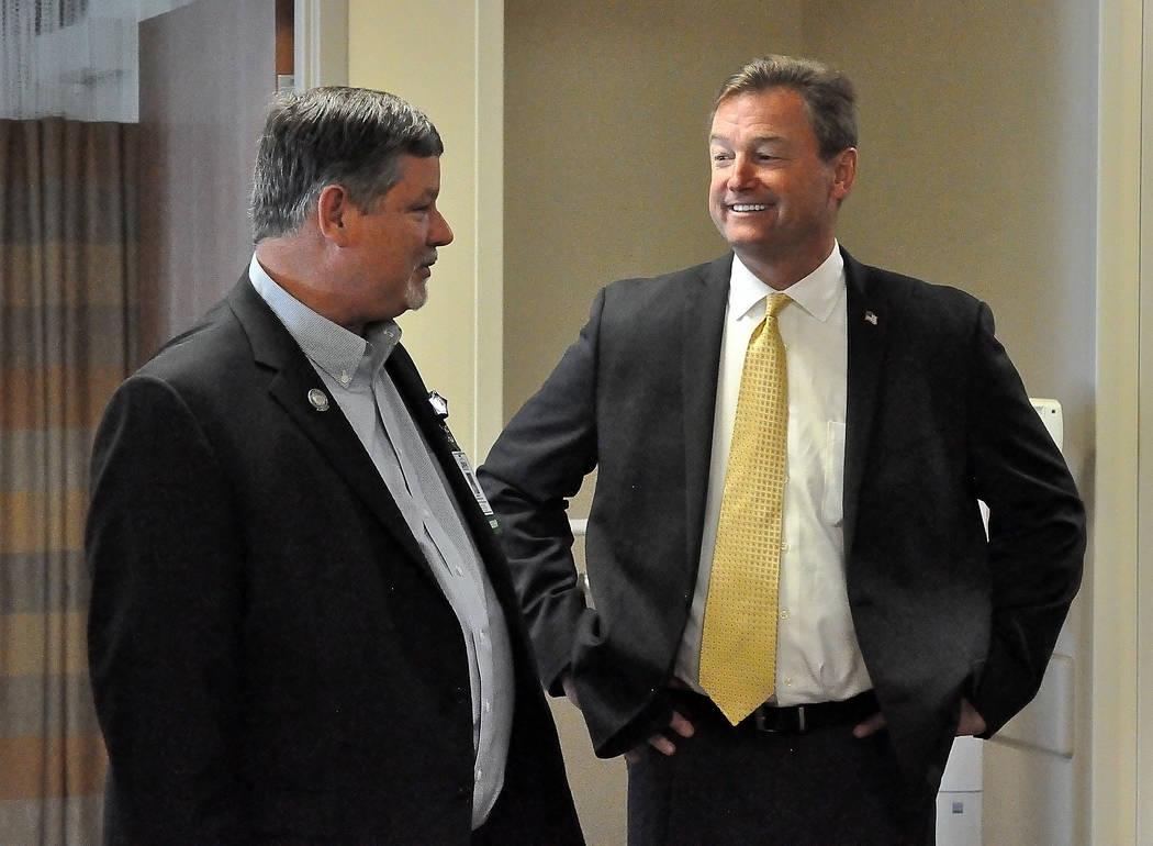 Horace Langford Jr. / Pahrump Valley Times  Sen. Dean Heller tours Desert View Hospital with Assemblyman James Oscarson.