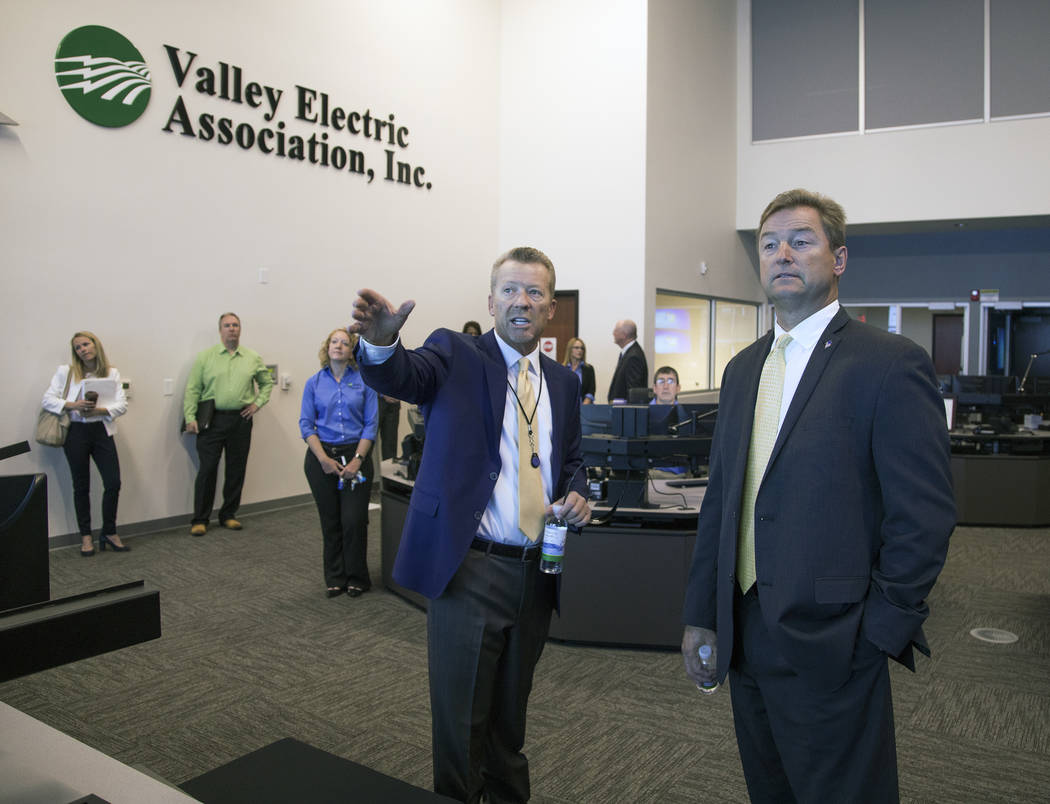 Special to the Pahrump Valley Times Sen. Dean Heller touring the VEA facility on Saturday.