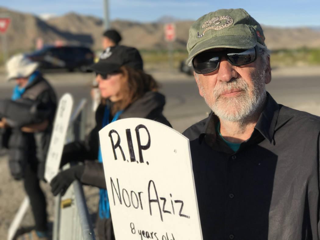 Keith Roger/ Las Vegas Review-Journal University of Nevada, Reno anthropology professor Joseba Zulaika outside Creech Air Force Base, Wednesday, April 26, 2017.