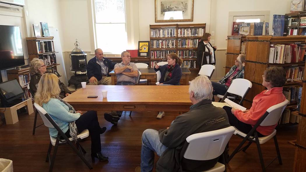 "David Jacobs/Times-Bonanza ""Coffee with the Commissioners/Donuts with the DA"" last month offered an opportunity for locals to meet with Nye County Commissioner Butch Borasky of Pahrump, Nye Co ..."