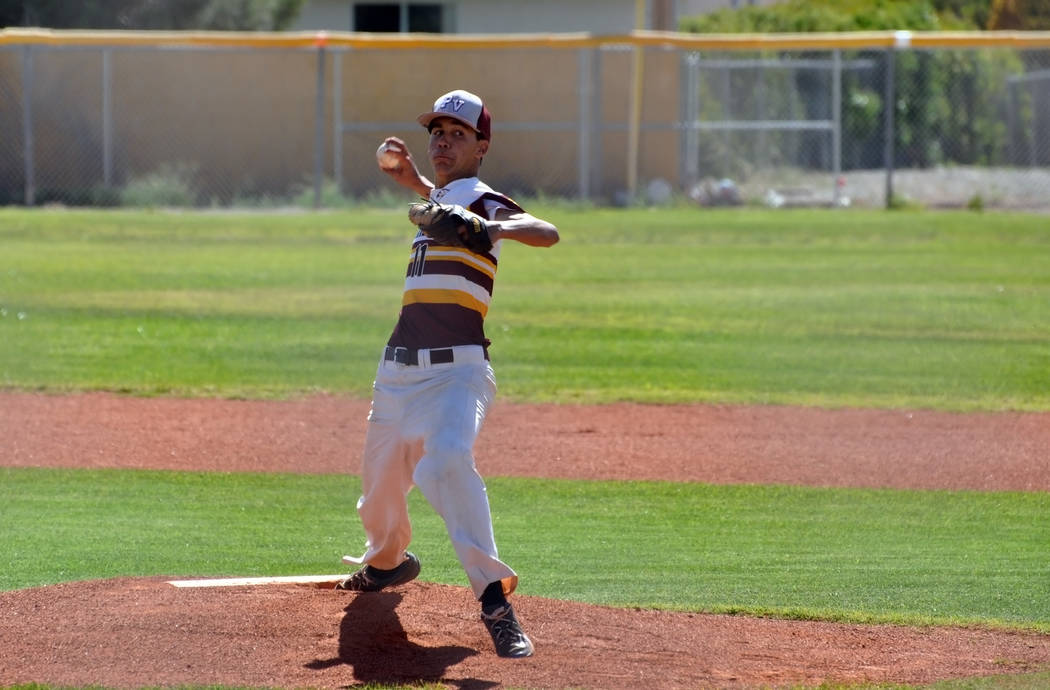 Horace Langford Jr./Pahrump Valley Times Senior Josh Ferrer had smooth sailing after the second inning and held on for the win against Western on April 28. Pahrump Valley beat Western 15-5.