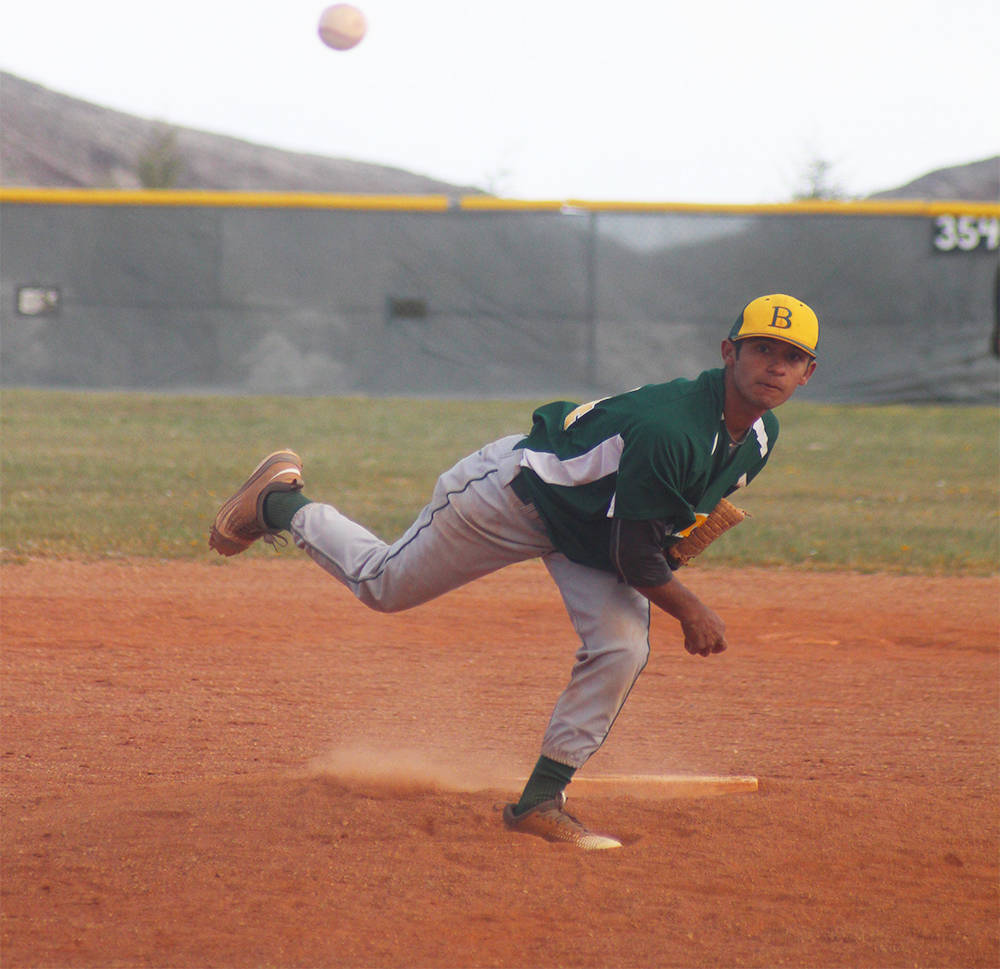 Penny Otteson/Special to the Pahrump Valley Times Jose Gonzalez on the mound for the Hornets on April 28 in Tonopah against the Muckers. Hornets coach Mark Henderson said their ace, Gonzalez did w ...