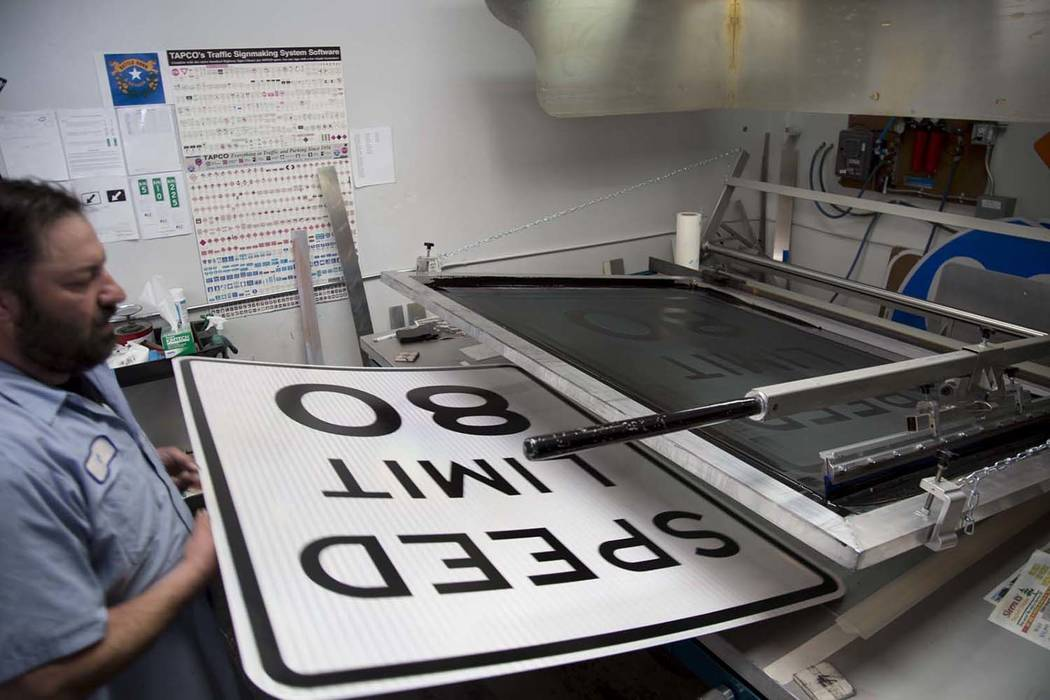 Photo provided by Nevada Department of Transportation Beginning as early as May 8, roughly 30 new speed limit signs will be installed with the 80 mph speed limit on Interstate 80 between Fernley a ...