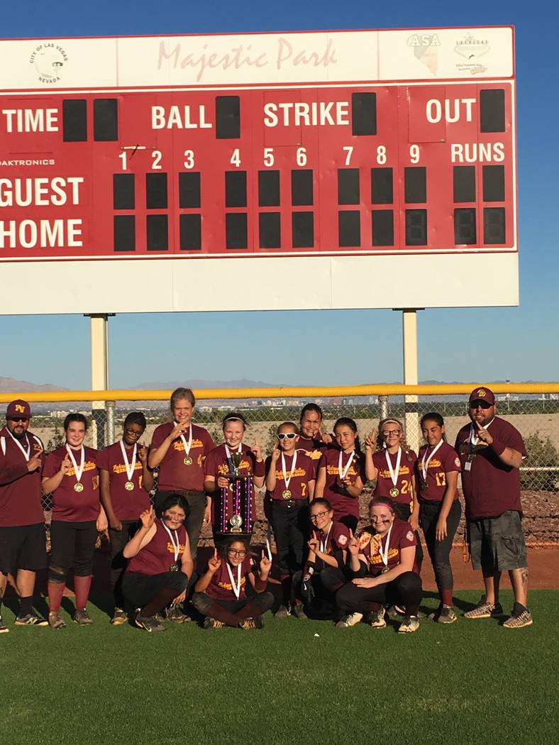 Special to the Pahrump Valley Times The PYSA Dirtsquad won the Spring Fling softball tournament at Majestic Park on April 29. The Dirtsquad team: Head coach Sam Charles, assistant Danny Coleman, R ...