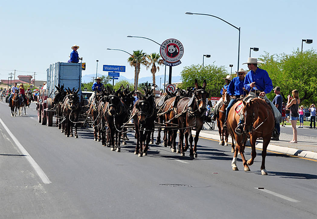 Selwyn Harris/Pahrump Valley Times The Wild West Extravaganza Parade is scheduled for at 9 a.m. Saturday near the Pahrump Nugget. Organizers said motorists should avoid the highway as it will be s ...