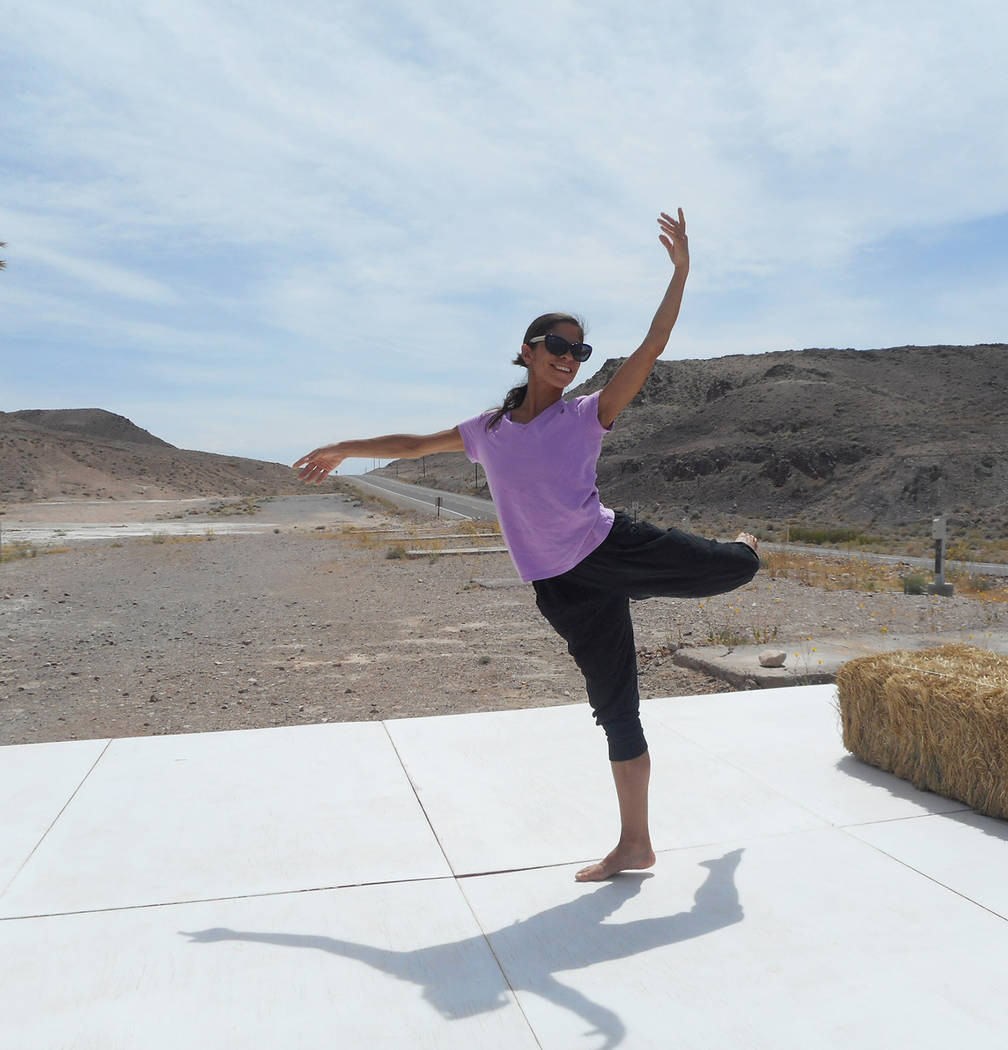Robin Flinchum/Special to the Pahrump Valley Times Dancer Jenna McClintock is practicing for an upcoming show. They are scheduled for May 13 and May 14 and May 19 and May 20.