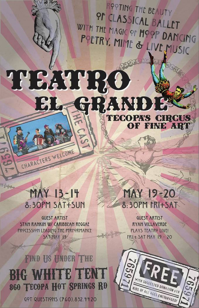 The upcoming shows are scheduled for Saturday and Sunday, May 13 and 14, and May 19 and 20. The program, Jenna McClintock says, will be essentially the same as the debut show. Some of the music, h ...