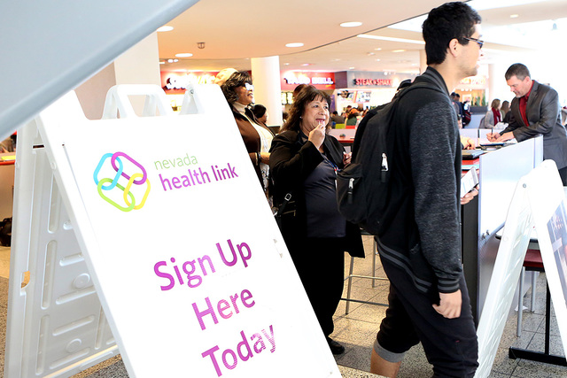 Bizuayehu Tesfaye/Las Vegas Review-Journal A look at an event earlier this year where college students could enroll in health insurance coverage and learn about the future of the Affordable Care A ...