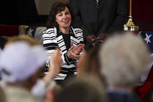 Chase Stevens/Las Vegas Review-Journal  Jacky Rosen as shown in a 2016 photo. Rosen and the rest of the delegation learned earleir this month when they learned that no funding for Yucca Mountain w ...