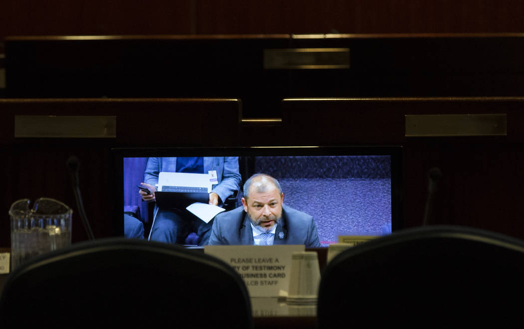 Miranda Alam/Las Vegas Review-Journal Assemblyman Paul Anderson speaks during a video conference earlier this year. During a separate appearance in Reno, Anderson said that Nevada businesses that  ...