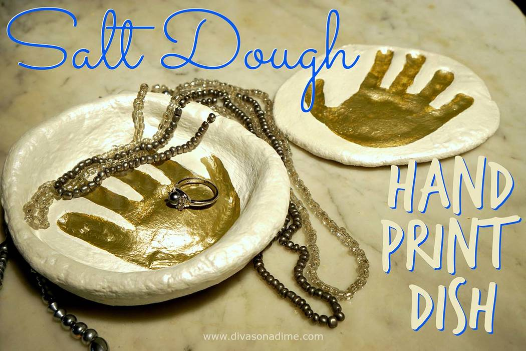 Patti Diamond/Special to the Pahrump Valley Times Here's a great inexpensive gift that they will treasure forever. A sweet little salt dough handprint dish.