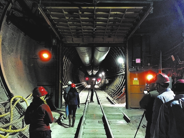 Pahrump Valley Times file photo A look inside the south portal entrance to Yucca Mountain during a tour by federal lawmakers, congressional staff members, media and Department of Energy employees  ...