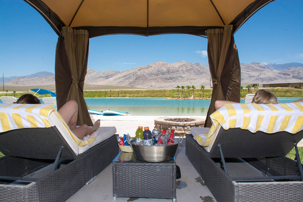 Special to the Pahrump Valley Times The view from a cabana a the Lake Spring Mountain.