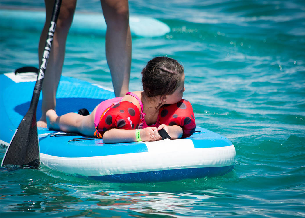 Special to the Pahrump Valley Times Kids always have fun on the water at Lake Spring Mountain, which opens its doors to the public this Saturday.