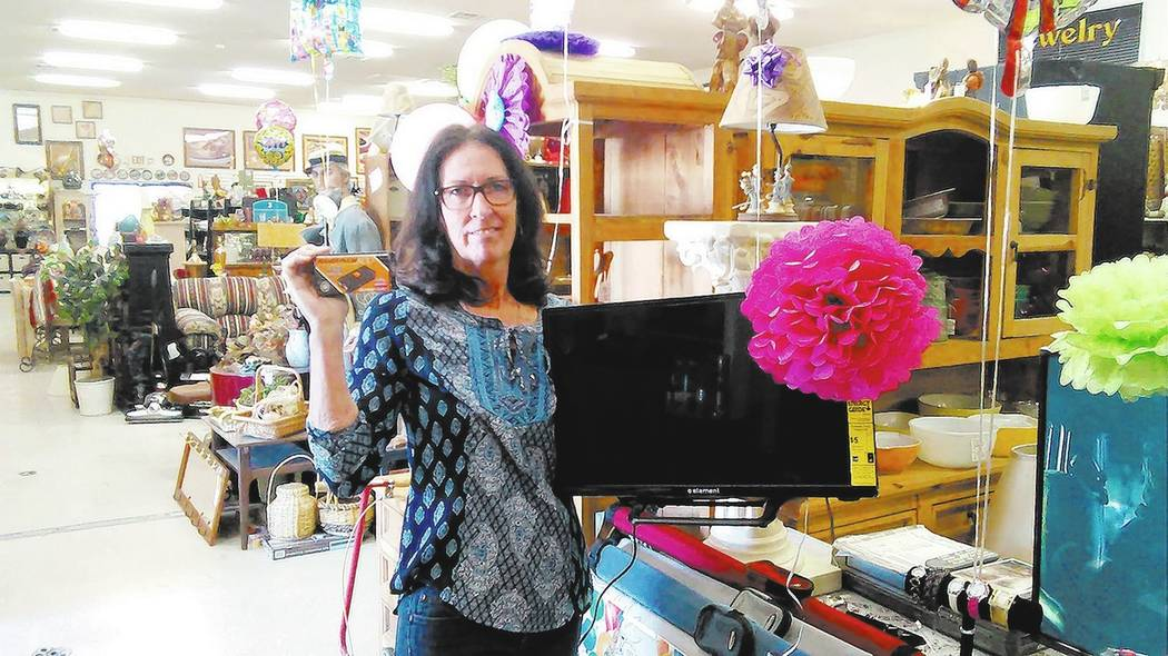 Selwyn Harris/Pahrump Valley Times Nye Emporium owner Diana Spencer-Saum is participating in the inaugural Community Yard Sale. The event runs May 26-29, which is during Memorial day weekend.