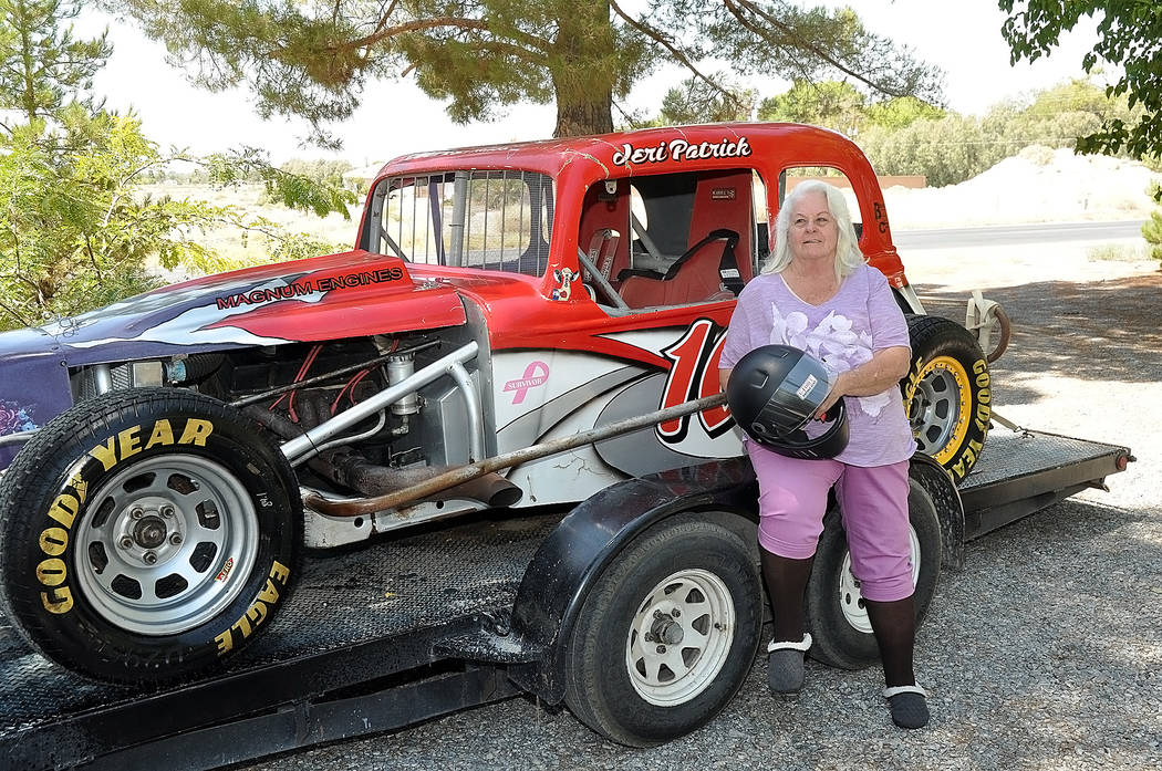Horace Langford Jr./Pahrump Valley Times Jeri Patrick is the oldest racer at the Pahrump Valley Speedway and drives in the Coupe class. Her husband of 30 years, Bryon Patrick, passed away on March ...