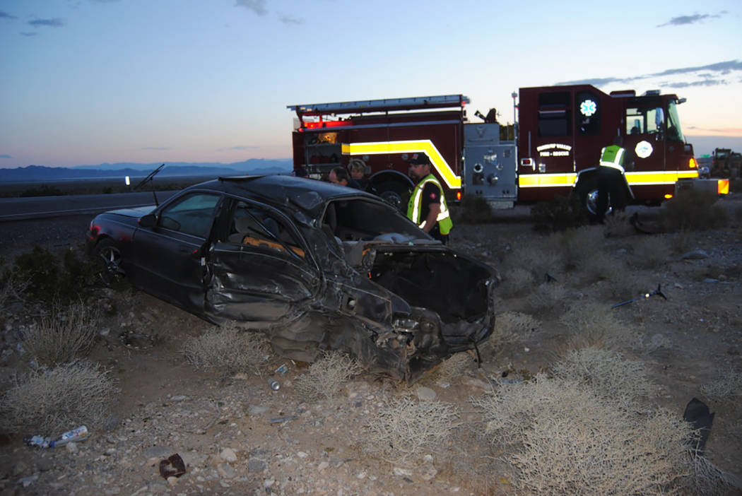 Special to the Pahrump Valley Times  The driver of a black sedan was flown to UMC Trauma in Las Vegas following a two-vehicle collision in the area of Highway's 160 and 95 last Monday, May 15, j ...